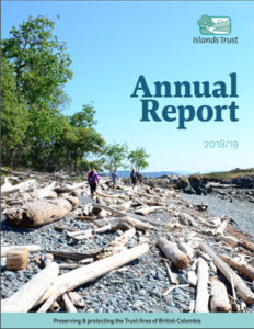 The cover of Islands Trust 2018/19 Annual Report