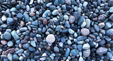 multicoloured pebbles on a rocky beach