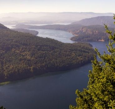 Salt Spring Island view from mountain top