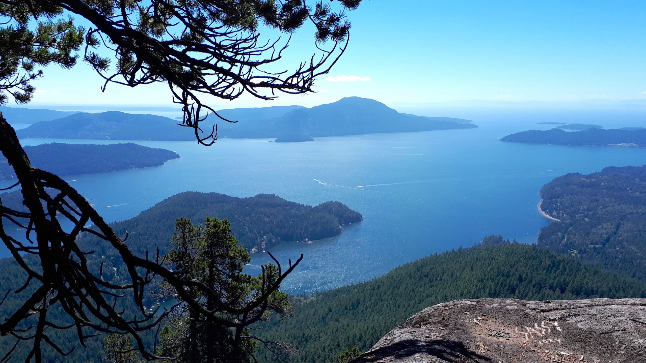View from Mount Killam on Gambier Island. Photo by Donna McMahon